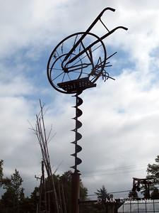 garden tools as sculpture
