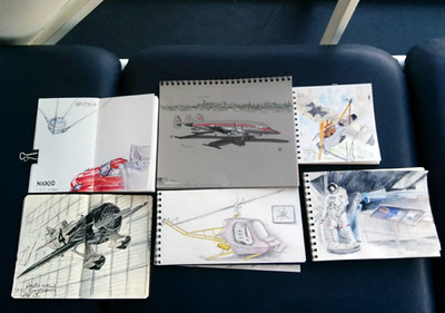 sketches.... stupid phone camera didn't focus well!