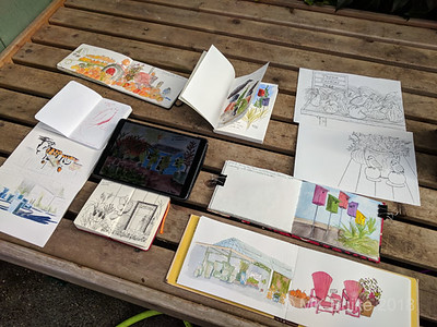 Swanson's Nursery Fall sketching