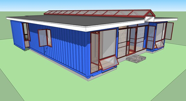 Shipping Container House, Front End