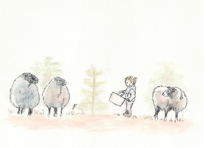 Boy and his Sheepish Friends