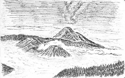 A sketch of Bromo Starry Night - https://500px.com/photo/71025777/bromo-starry-night-by-silentino-natti