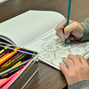 KRISTOPHER RADDER — BRATTLEBORO REFORMER<br /> With their colored pencil sharpened, a couple of patrons gather every Monday at the Vernon Free Library for the Adult Coloring Club. Joanne Leveille, of Vernon, said that it seemed interesting to do and turned out to be pretty fun.