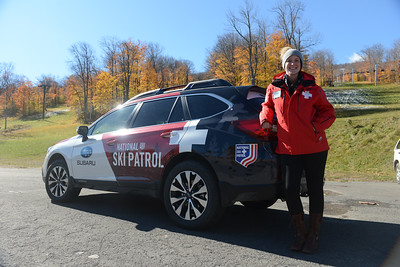 "Tania Barricklo-Daily Freeman Selina ""Seni"" Guendel stands next to a Suburu which she won in a competition put on by Suburu and the National Ski Patrol. Guendel , whois from Boiceville, was one of two people out of over 1,000 contestants in hte US who won. She believes she won because in her application she wrote about the low numbers of women ski patrolers and how women are equally capable of doing the job. She will have the use of the car for the next ten months and take it to Snow Basin in Utah where she will be a full time ski patroler. Gundel started as a junior ski patroler at he age of 15 at Belleayre and has been patroling for the last 10 years."