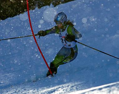 Racing in twinkling snow