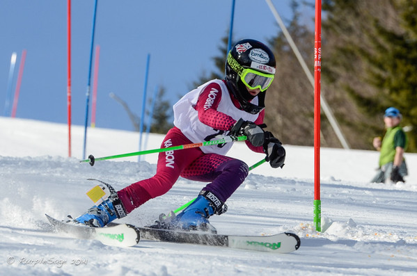 Snowshoe Mountain Resort Slalom Ski Race