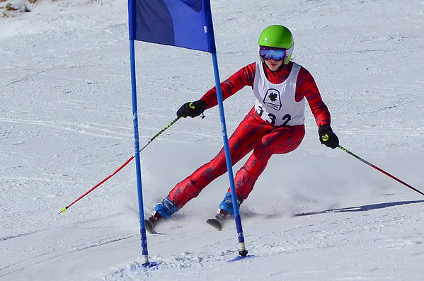 J3 Girls One Run Giant Slalom