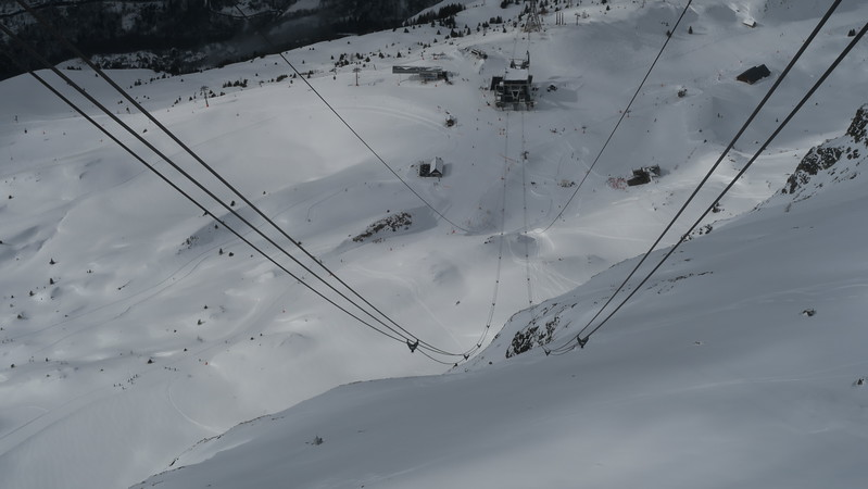 Alpette-Rousses Tram from the top