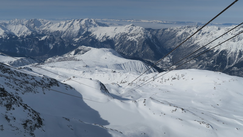View from the top of the Pic Blanc tram