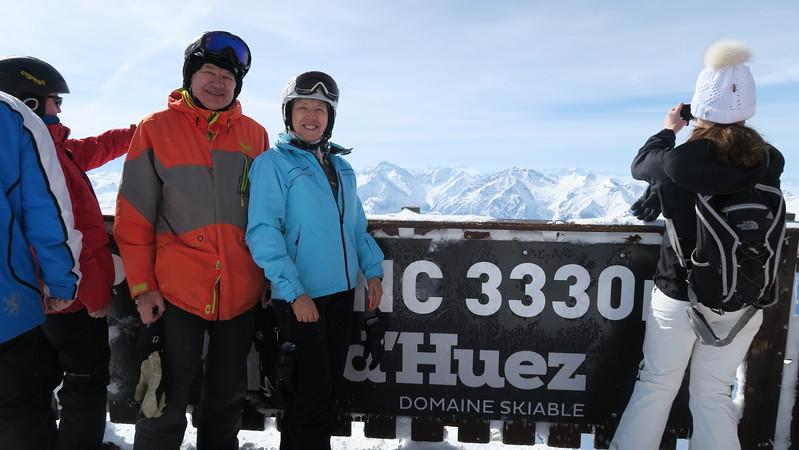 Dave & Christina at Pic Blanc