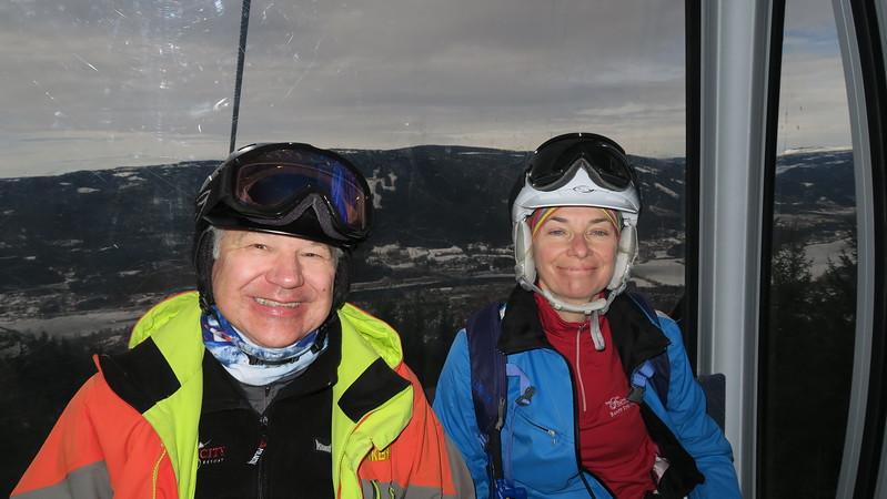Dave & Denise in Hafjell's Gondola