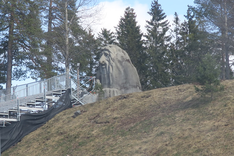 Troll overlooking the ski-jump arena