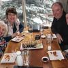 Thursday dinner at Sake Restaurant, Snowmass Base Camp - Maggie, Carrie, Greg & Chris
