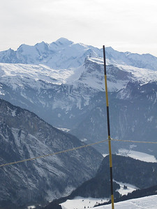 Mont Blanc again, and if you look carefully you'll see a lake in the valley