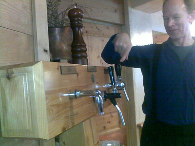 "Our hotel dining room had a ""help yourself"" dispenser, with spigots for water, beer and wine - quite unusual!"