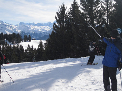 DCW aiming for the drarmatic skyline with his ski stick ...