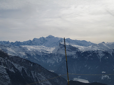 Mont Blanc in the background