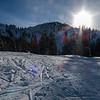 Morning sun on Wren Hollow   Brighton Ski Resort   Utah   2016