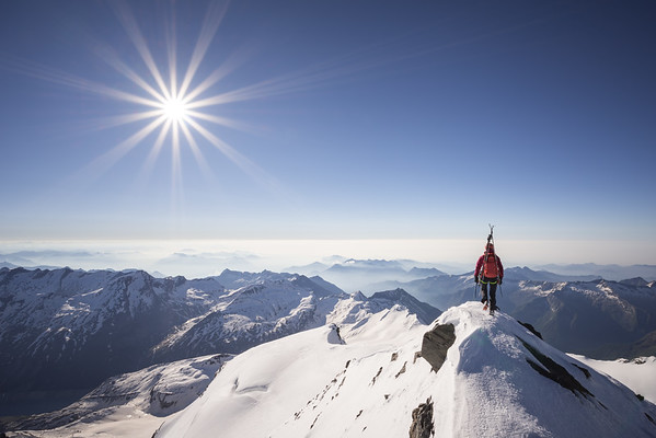 Valentine Fabre on the Strahlhorn, Switzerland