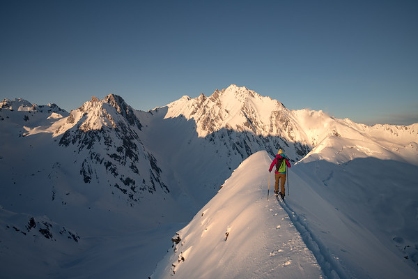 Valentine Fabre on Mont Rosset, Tarentaise, France