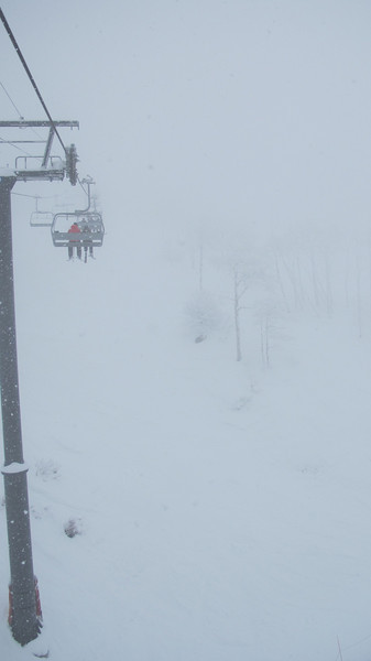 No visibility. Where's the top of the lift?