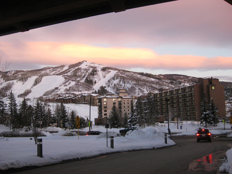 """Alpenglow"" sunset, Monday night before our welcome party"