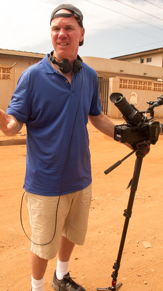 Skid Row Marathon director Mark Hayes during the Accra International Marathon in Ghana.