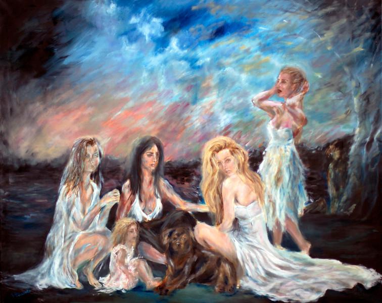 """""""Seasons' Converse"""" (oil on canvas) by Ruslana Levandovska"""