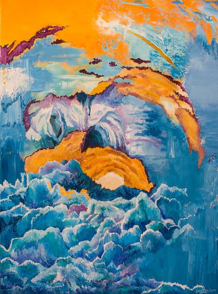 """Over the Horizon 3"" (oil on canvas) by Jaxton Su"
