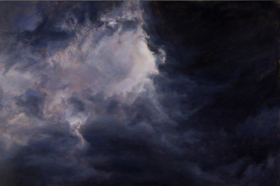 """Dark Fugue"" (oil on panel) by Linda  Pearlman Karlsberg"