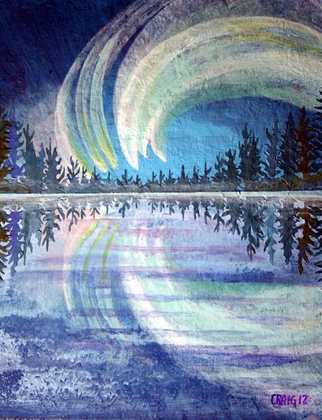 """Northern Lights"" (acrylics) by Bob Craig"