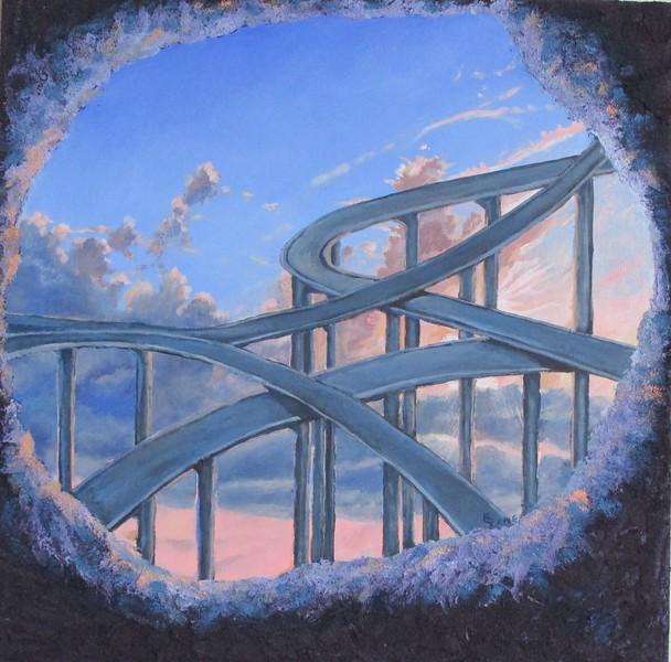 """Ascending the Sun"" (acrylic) by Elizabeth  Lane"