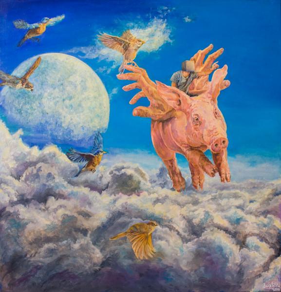 """Epic"" (oil on canvas) by Jaxton Su"