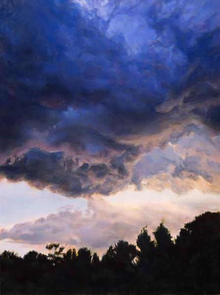 """Turmoil Threatens"" (oil on panel) by Linda  Pearlman Karlsberg"