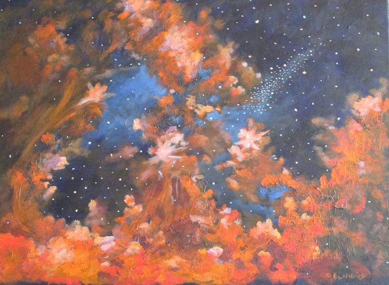 """Galactic Storm"" (acrylic) by Elizabeth  Lane"