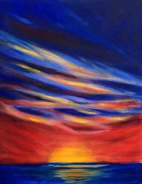 """Sky Fire"" (acrylic) by Kathryn Miles"