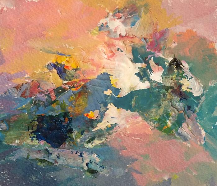 """Dawn"" (acrylic paint collage on arches) by Amanda Millman"