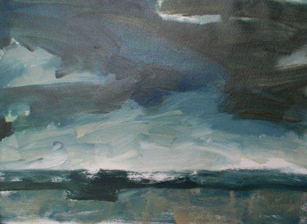 """""""daybreak"""" (oil) by Jane du Brin"""