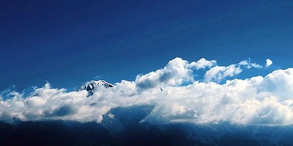 """Shrouded Snowcap"" (digital photography) by Luke Engle"