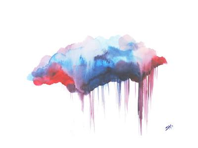 """""""Cumulonimbus #8"""" (watercolor) by Shaylen Broughton"""