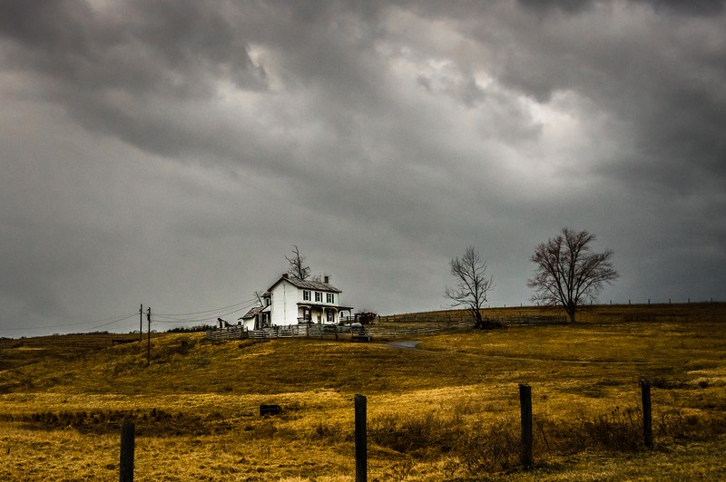 """Storm Over Abandoned Farm"" (digital photography) Karen Crouse"