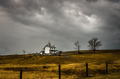 """Storm Over Abandoned Farm"" (digital photography) Karen Crouse"