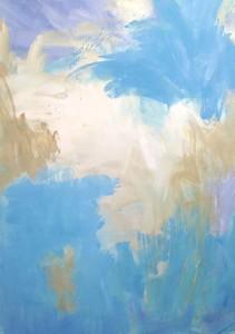 """skyscape"" (oil) by Jane du Brin"