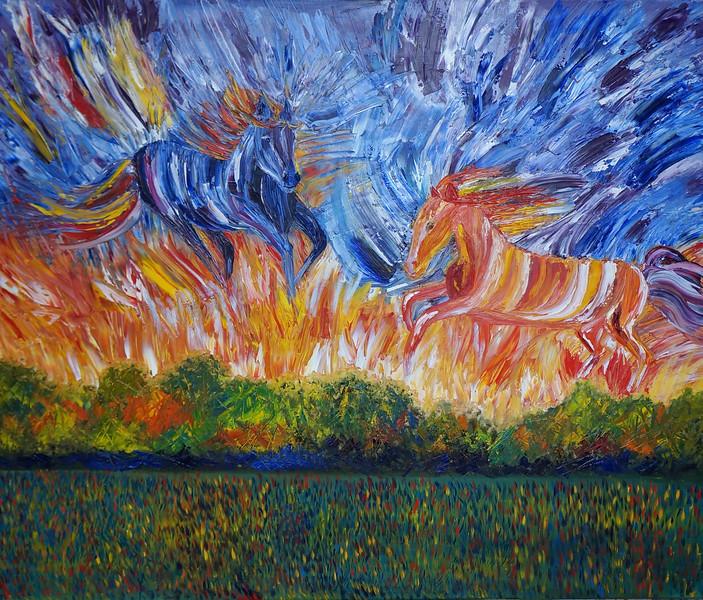 """Dawn"" (oil on canvas) by Alexandra Nebylova"