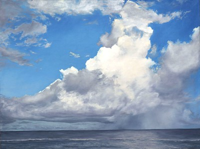 """Cumulus Cloud"" (oil on canvas) by Natalia Marinych"