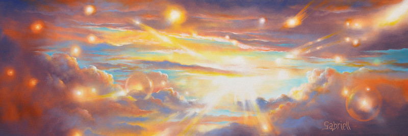 """The light of sky"" (oil on canvas) by Gabriel Lavoie"