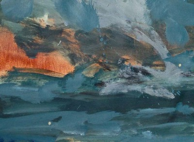 """sky"" (oil) by Jane du Brin"