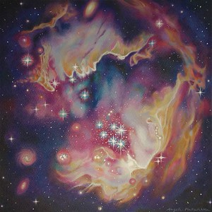 """Cosmic Sky"" (colored pencil, white ink pen) by Angela Matuschka"