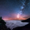 """Milky way above the clouds ocean"" (photography) by Yevhen Samuchenko"