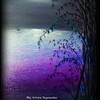 """Shades of Violet and the moon"" (oil) by Archana Roypawaskar"